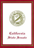 The California State Senate issues special awards to Pacific Heights Cleaners in recognition their Green Clean process